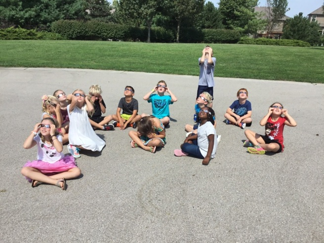 8.21.17 Reece viewing Solar Eclipse with 2GR class