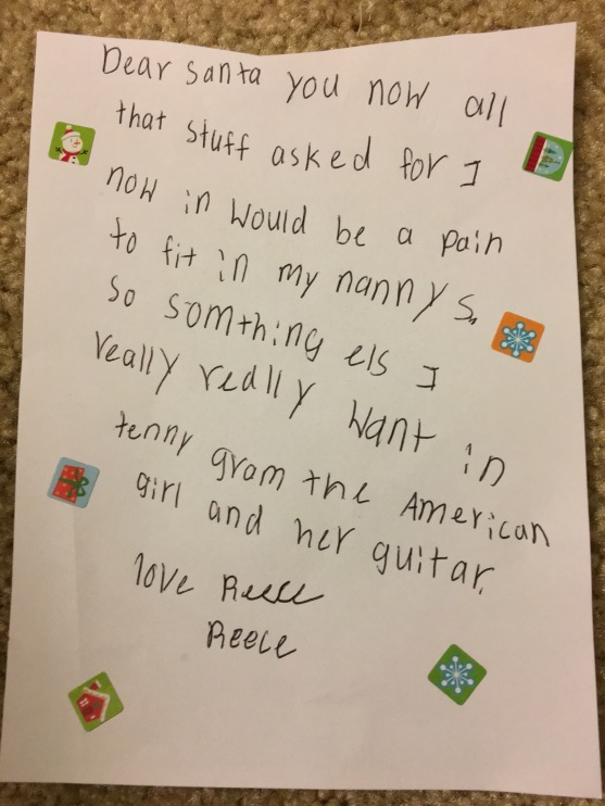 12.4.17 Reece another note for Santa