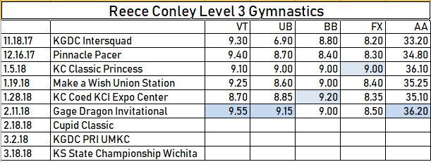 2.11.18 Reece Level 3 Meet Scores.JPG